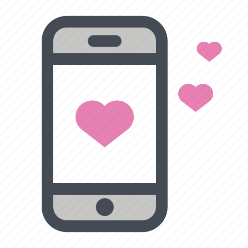 chatting, communication, love, meeting, message, mobile, valentine's day icon