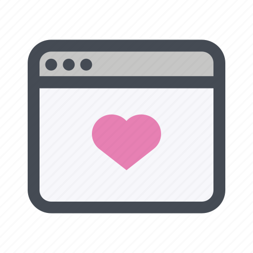 dating application, love, meeting, passion, romance, valentine's day, website icon