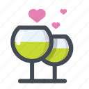 dating, drink, lovers, meeting, passion, valentine, valentine's day icon