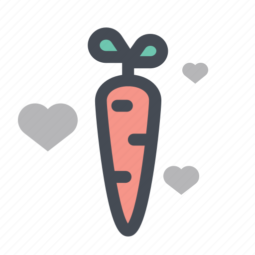 carrot, food, gift, love, lovers, romance, valentine icon