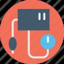 blood pressure cuff, blood pressure meter, blood pressure monitor, bp operator, sphygmomanometer icon