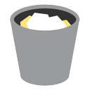 appicns, full, trash icon
