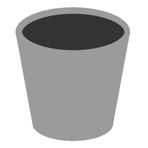 appicns, empty, trash icon