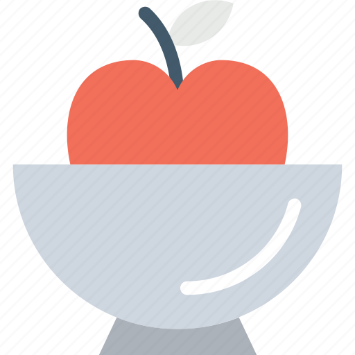 apple bowl, fruit, healthy diet, healthy food, natural diet icon