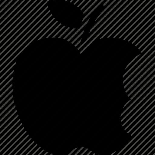 apple bite, bitten apple, fruit, half eaten apple, healthy diet icon