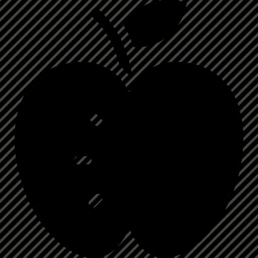 apple, apple slice, fruit, half apple, healthy diet icon