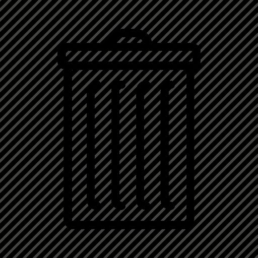 apple, delete, junk, recycle bin, rubbish, trash, trash can icon