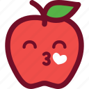 apple, emoticon, heart, love icon