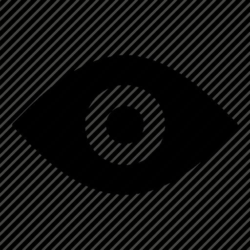 apple, eye, file, open, preview, search, view icon