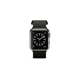 apple, black, leather, loop, product, watch icon
