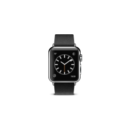 apple, black, buckle, modern, product, watch icon