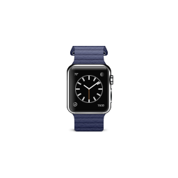 apple, blue, leather, loop, product, watch icon