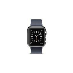 apple, blue, buckle, modern, product, watch icon