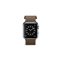 apple, brown, leather, loop, product, watch icon