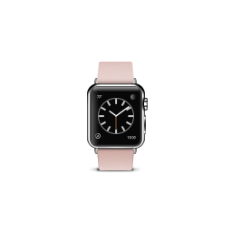 apple, buckle, modern, pink, product, watch icon