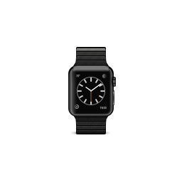 apple, black, bracelet, link, product, space, stainless, steel, watch icon