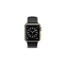 apple, black, buckle, classic, edition, gold, product, watch icon
