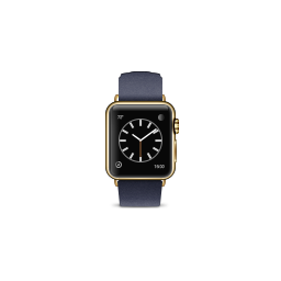 apple, blue, buckle, classic, edition, gold, midnight, product, watch icon