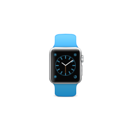 apple, band, blue, product, sport, watch icon