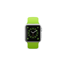 apple, band, green, product, sport, watch icon