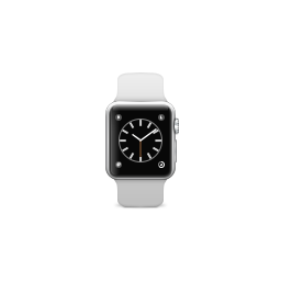 apple, band, product, sport, watch, white icon