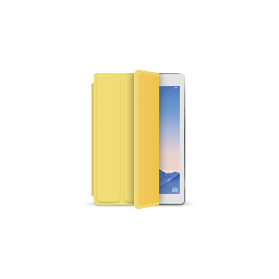 apple, ipad, product, silver, smartcover, yellow icon