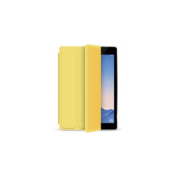 apple, gray, ipad, product, smartcover, space, yellow icon