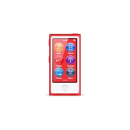 apple, ipod, nano, product, red icon