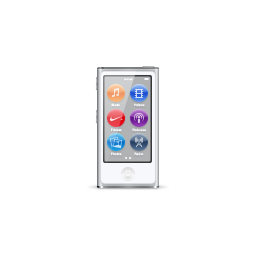 apple, ipod, nano, product, silver icon