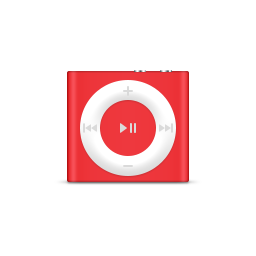 apple, ipod, product, red, shuffle icon
