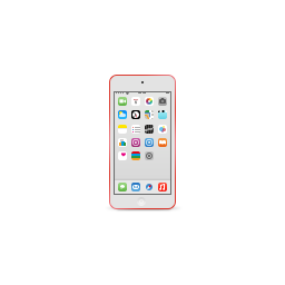 apple, ipod, product, red, touch icon