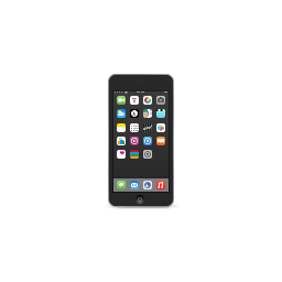 apple, gray, ipod, product, space, touch icon