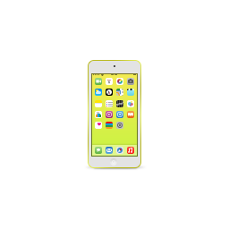 apple, ipod, product, touch, yellow icon