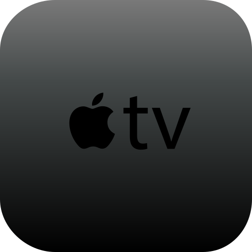 apple, apple tv, tv icon