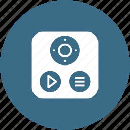 apple, control, remote, technology, tv icon