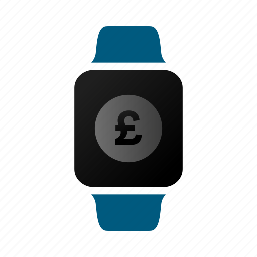 currency, money, pounds, watch icon