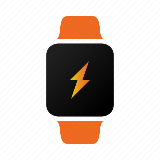 battery, charging, power, watch icon