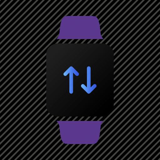 exchange, receive, transfer, wireless icon