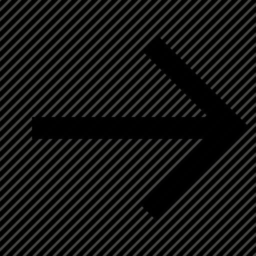 arrow, chevron, direction, east, right icon