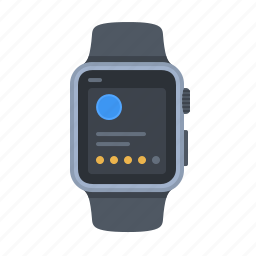 apple watch, device, iwatch, notification, smartwatch, time, timepiece icon