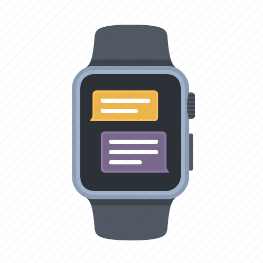 apple watch, chat, device, message, smartwatch, technology, timepiece icon