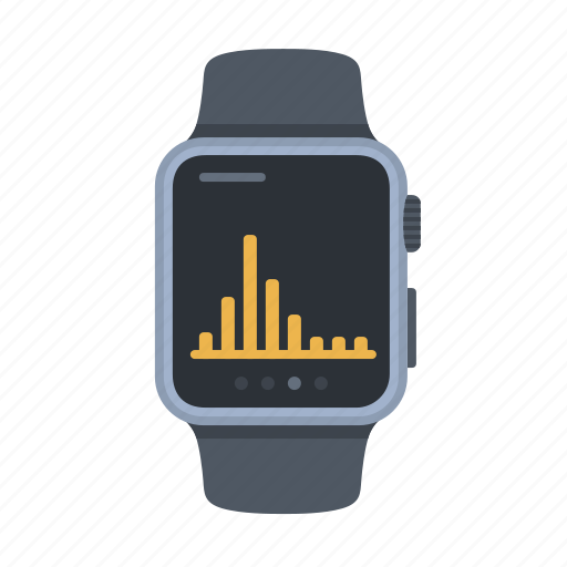 apple watch, device, graph, smartwatch, statistics, technology, timepiece icon