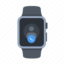 apple watch, incoming, iwatch, phone, smartwatch, timepiece icon