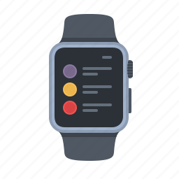 apple watch, list, preferences, settings, smartwatch, timepiece, watch icon