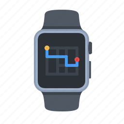 apple watch, device, map, navigation, smartwatch, technology, watch icon