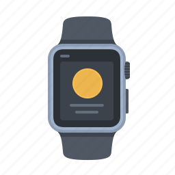 apple watch, device, message, notification, short look, smartwatch, timepiece icon