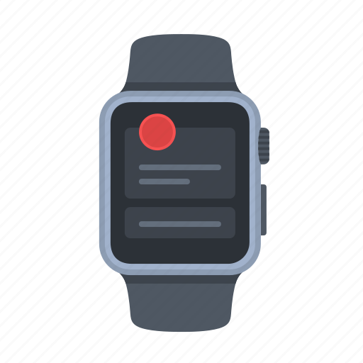 apple watch, device, long look, notification, smartwatch, timepiece icon