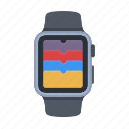 apple watch, device, iwatch, passbook, smartwatch, time, timepiece icon