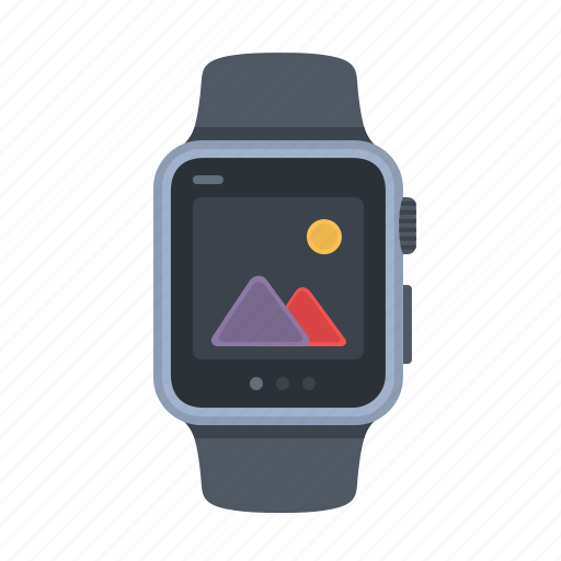 apple watch, device, iwatch, picture, smartwatch, time, timepiece icon