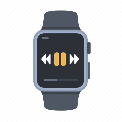 apple watch, device, iwatch, music, player, smartwatch, timepiece icon